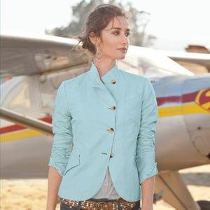 Sundance Audrey Asymmetrical Linen Blend Blazer